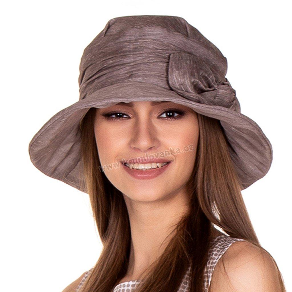428196, 428194, 428192, 428193, 428191 Lucia шляпка лен милано капучино