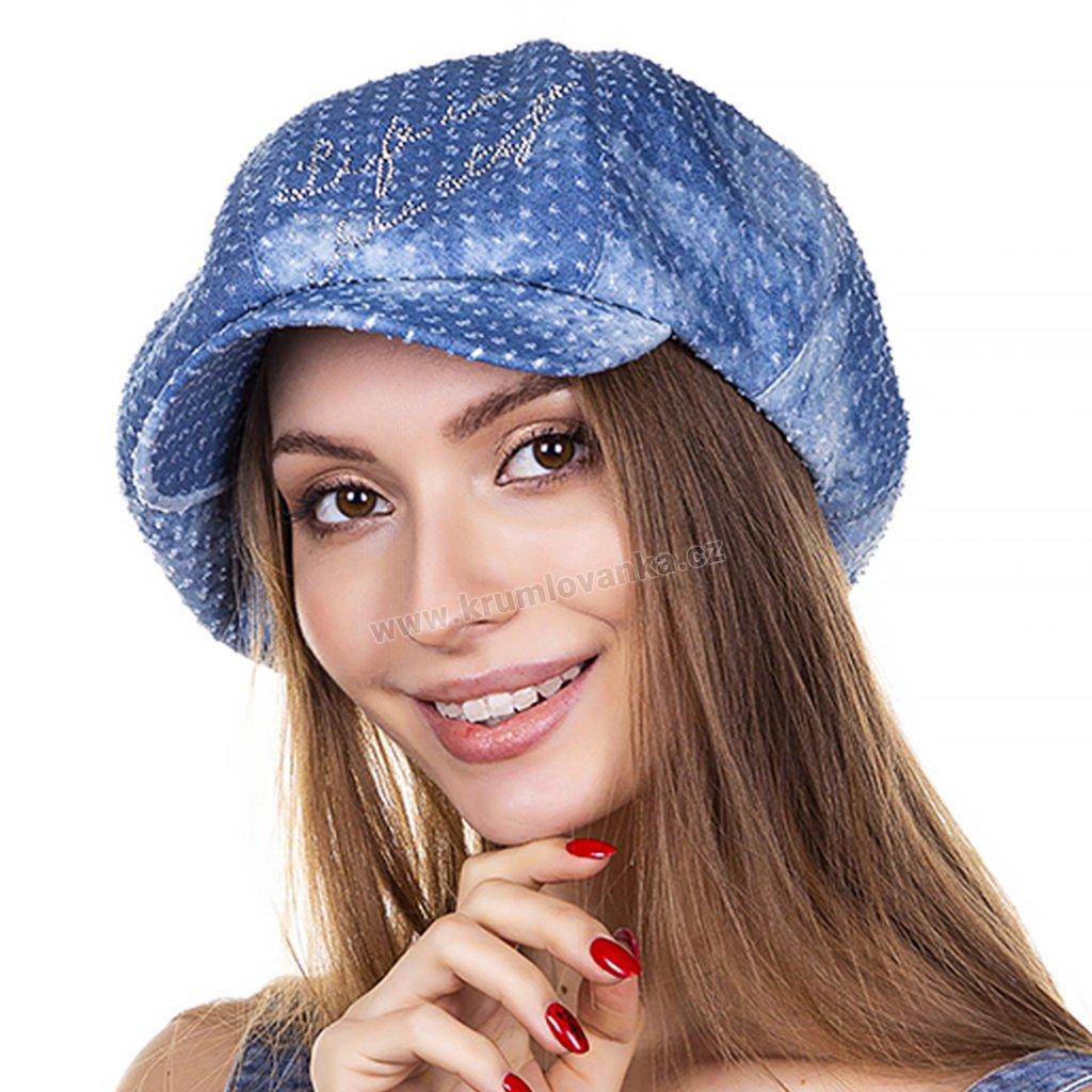 Dámská letní čepice s kšiltem Krumlovanka 440942 modrá