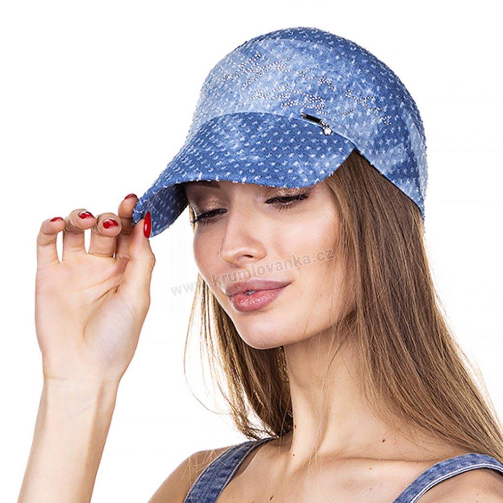 Dámský letní kšilt Krumlovanka 441010 modrý
