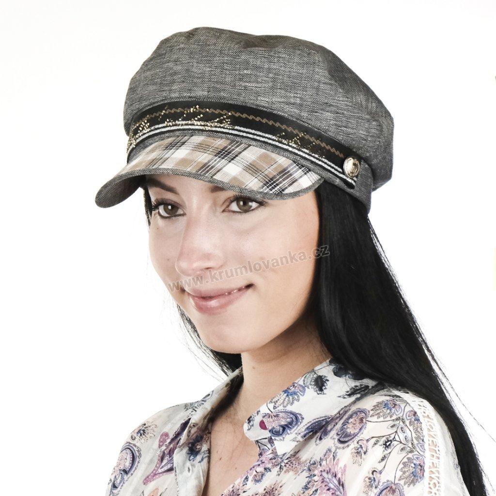Dámská letní čepice s kšiltem Krumlovanka 435358 multicolor