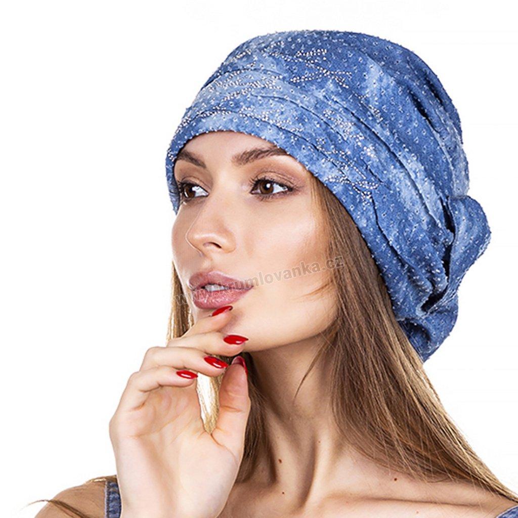 Dámská letní čepice Krumlovanka 440948 modrá
