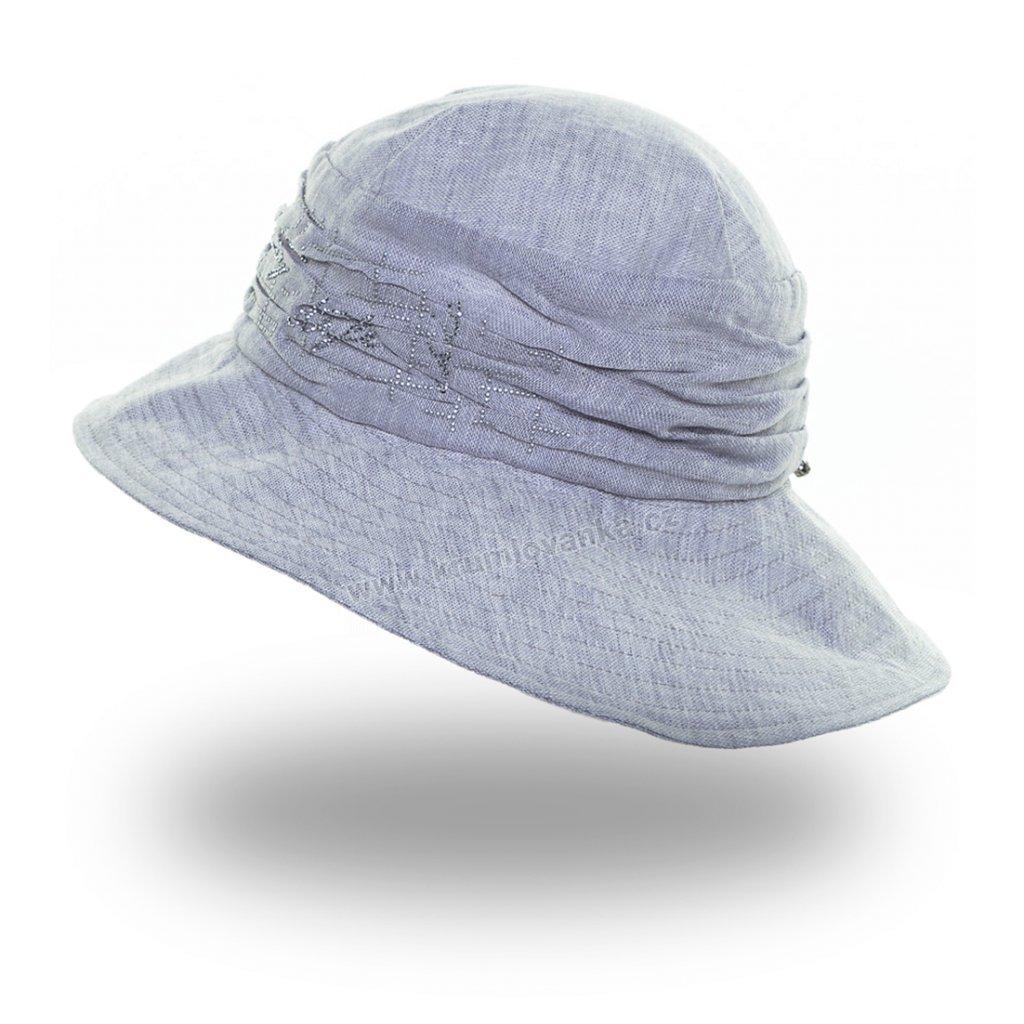 Dámský letní klobouk Krumlovanka 441238 šedomodrý