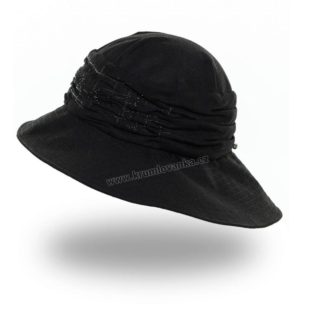 Dámský letní klobouk Krumlovanka 441241 černý