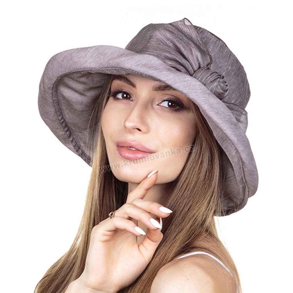 Dámský letní klobouk Krumlovanka 441357 kapučino