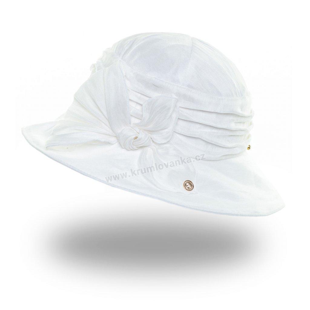 Dámský letní klobouk Krumlovanka 441385 bílý