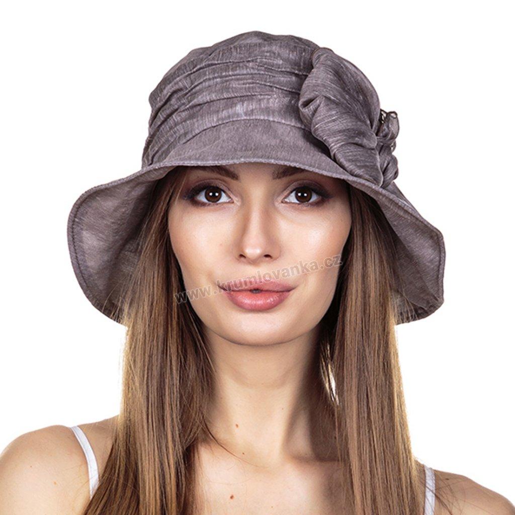 Dámský letní klobouk Krumlovanka 441383 kapučino