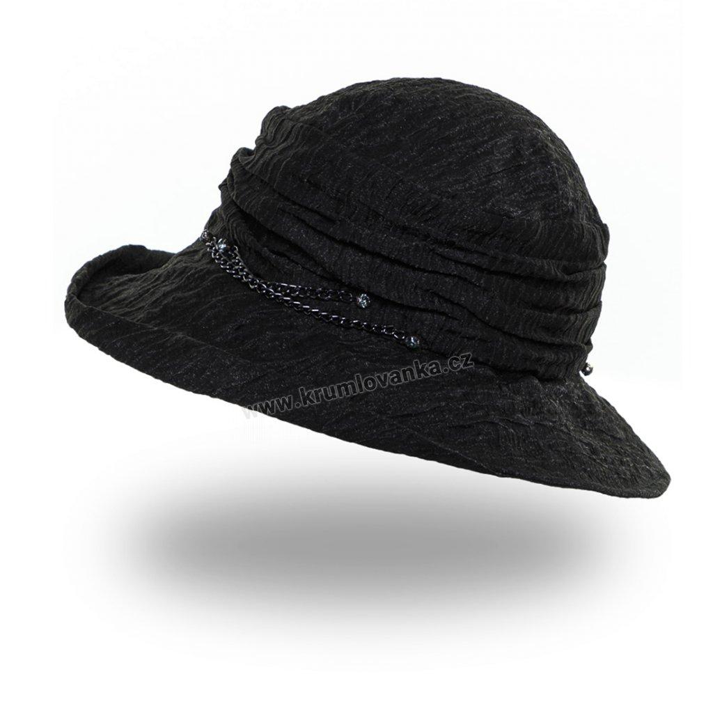 Dámský letní klobouk Krumlovanka 441442 černý