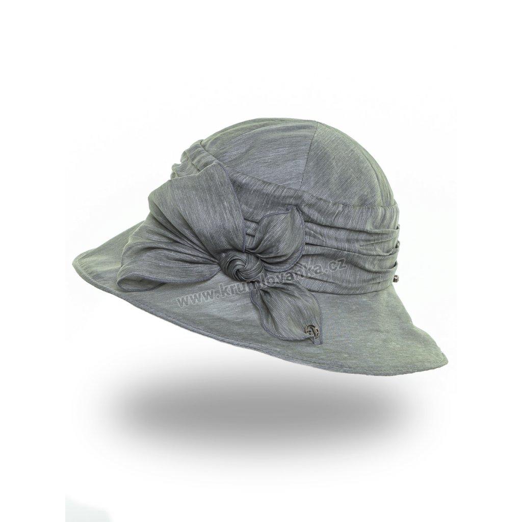 Dámská letní čepice s kšiltem Krumlovanka 441382 zelená