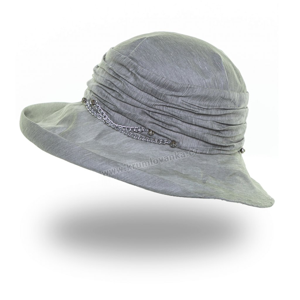 Dámská letní čepice s kšiltem Krumlovanka 441396 modrá