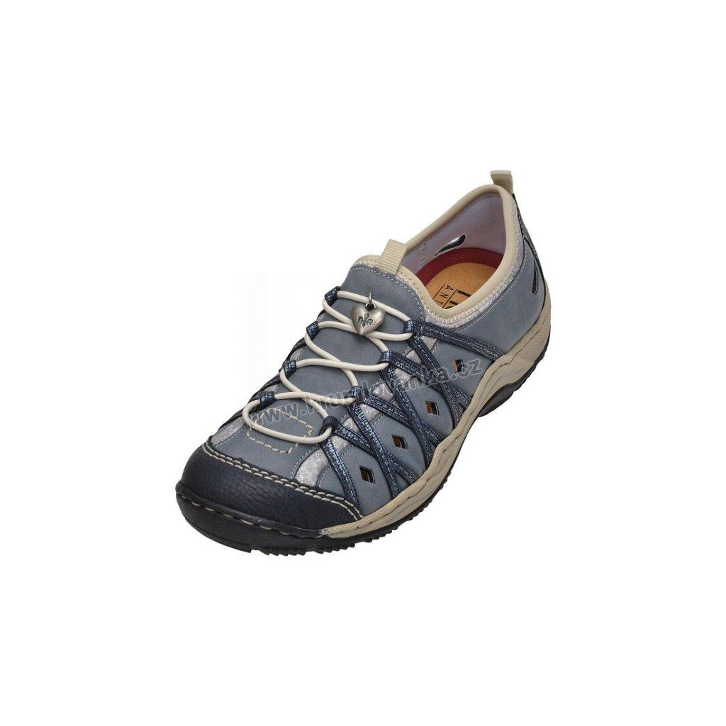 Dámské trekové sandály RIEKER L0567-14 modré