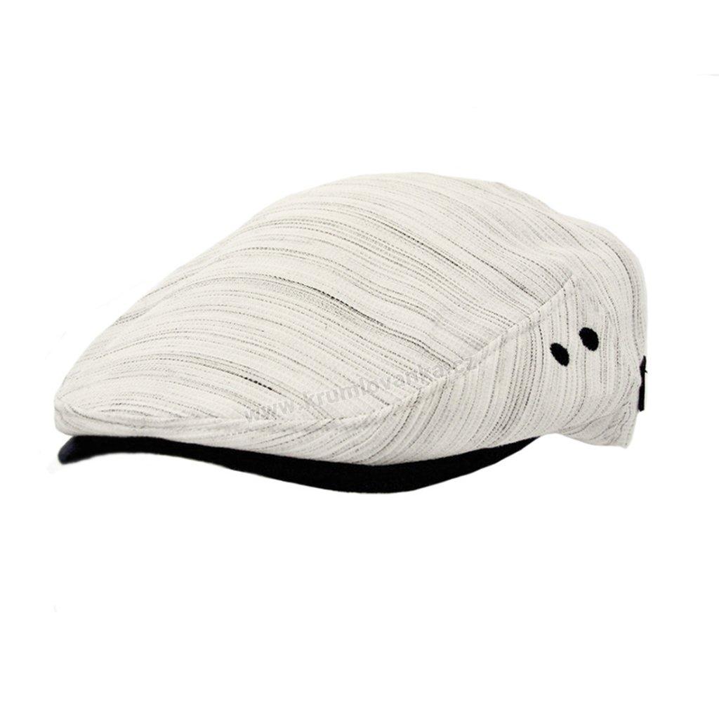 Letní pánská čepice- bekovka 12203 bílomodrá