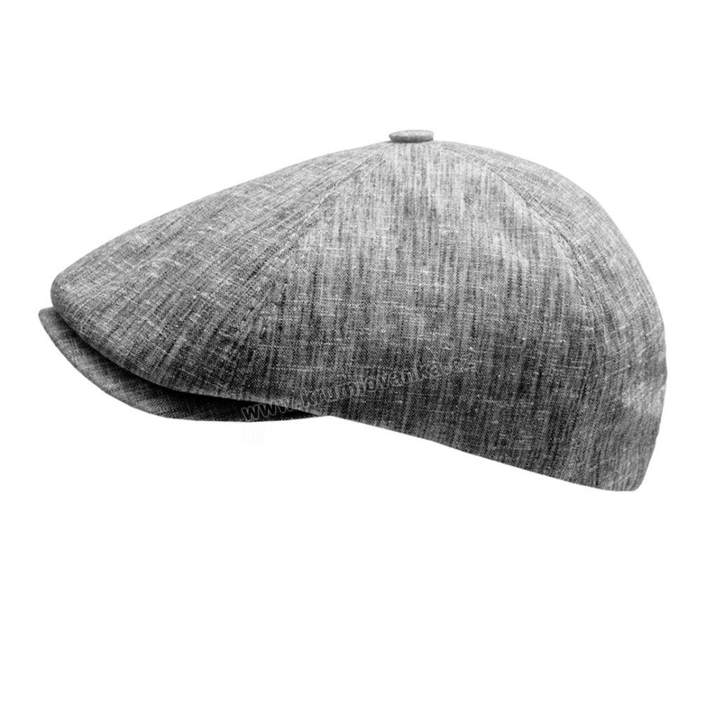 Letní pánská čepice - bekovka 12209 šedý melír