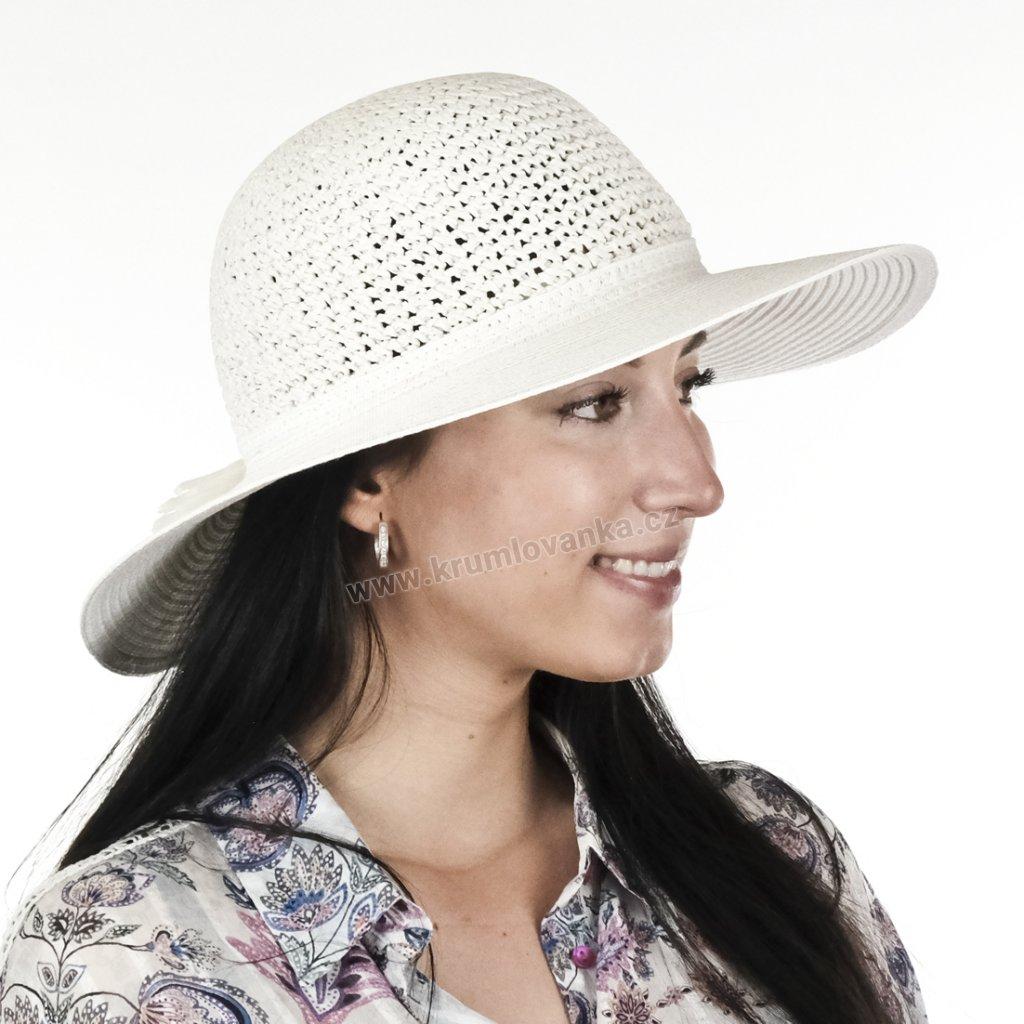 Dámský letní klobouk Big Brim 17022 bílý