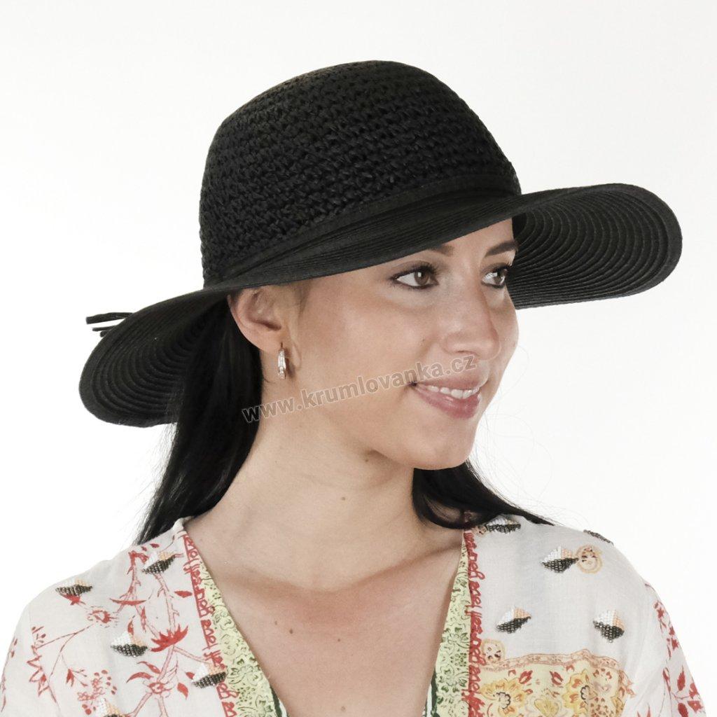 Dámský letní klobouk Big Brim 17022 černý