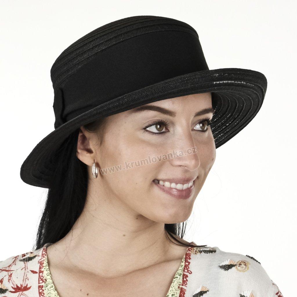 Letní dámský klobouk 18158 černý
