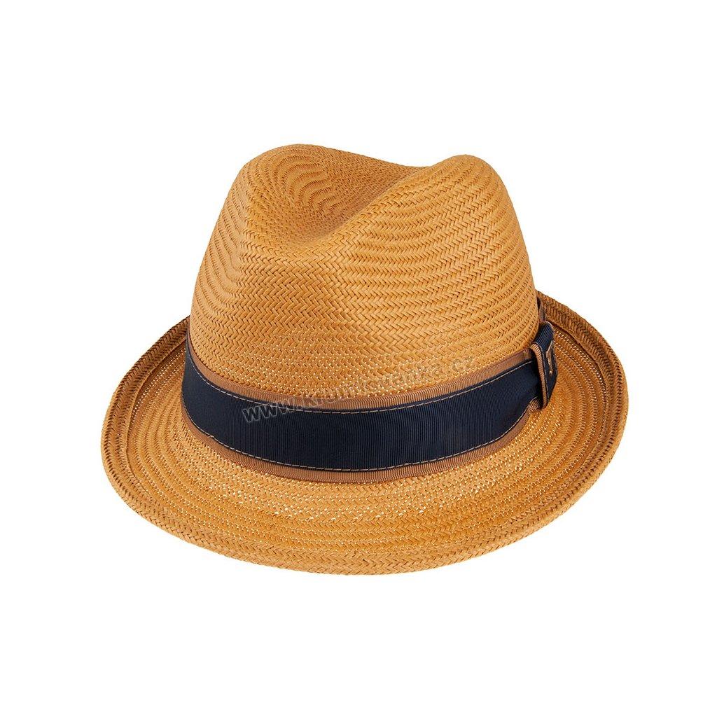 Letní slaměnný klobouk TONAK Trilby Phillipe 36016 LT Brown hnědý