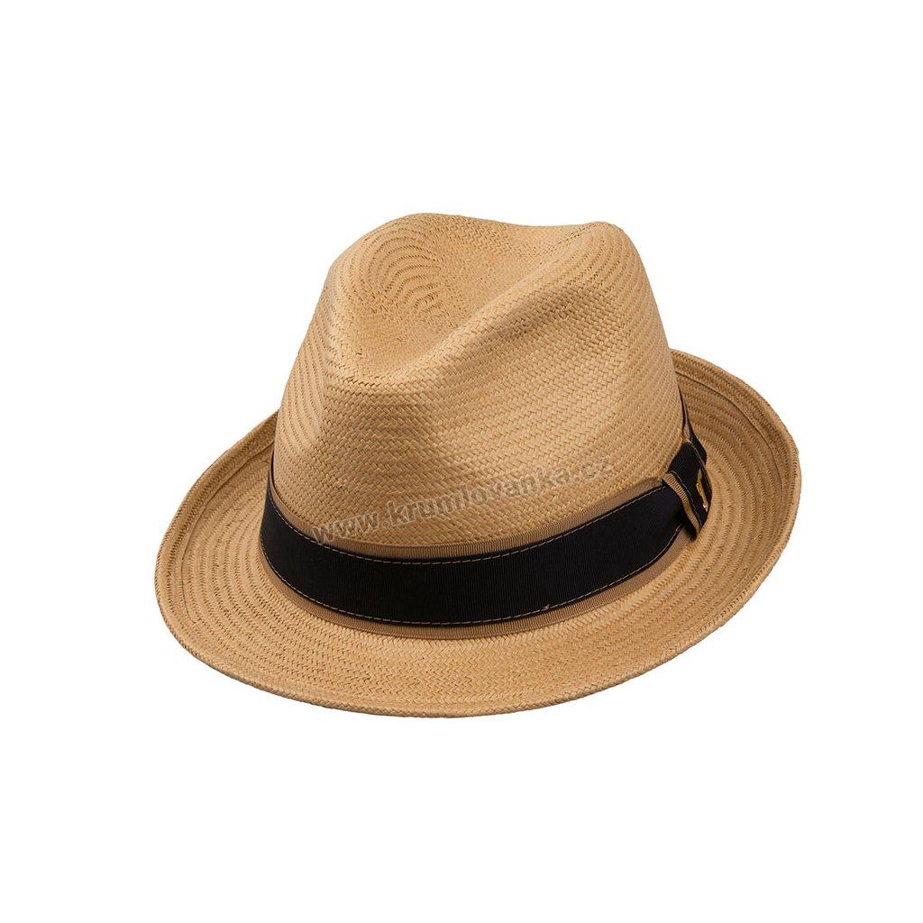 Letní slaměnný klobouk TONAK Trilby Phillipe 36016 TAN béžový