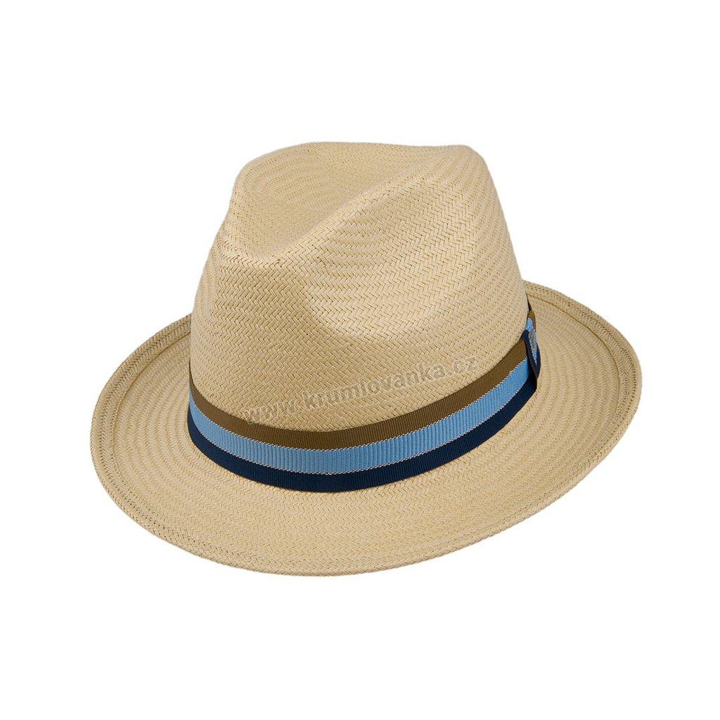 Letní slaměnný klobouk TONAK Fedora Base Simple SAND 36061 béžový