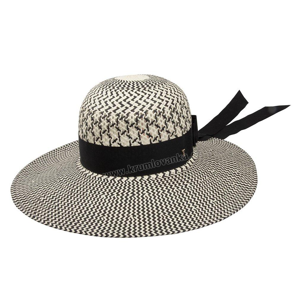 Letní slaměnný klobouk TONAK Brim Hat Vita Stella 35040 black