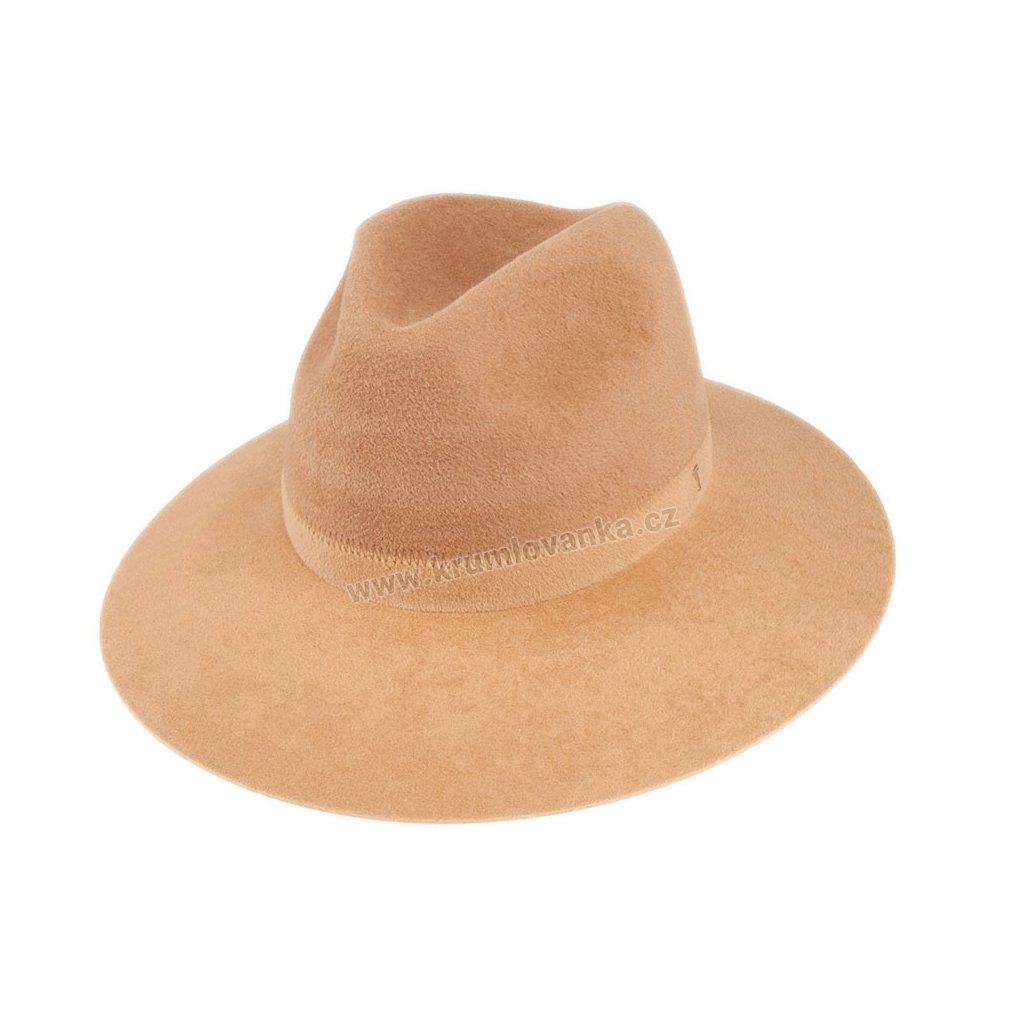 5370820 Q7051 1 damsky plsteny klobouk hnedy bezovy