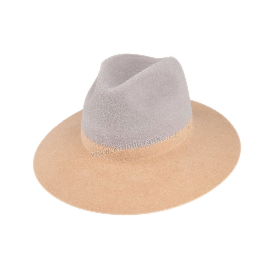 5370820 Q8083 1 damsky plsteny klobouk sedy bezovy