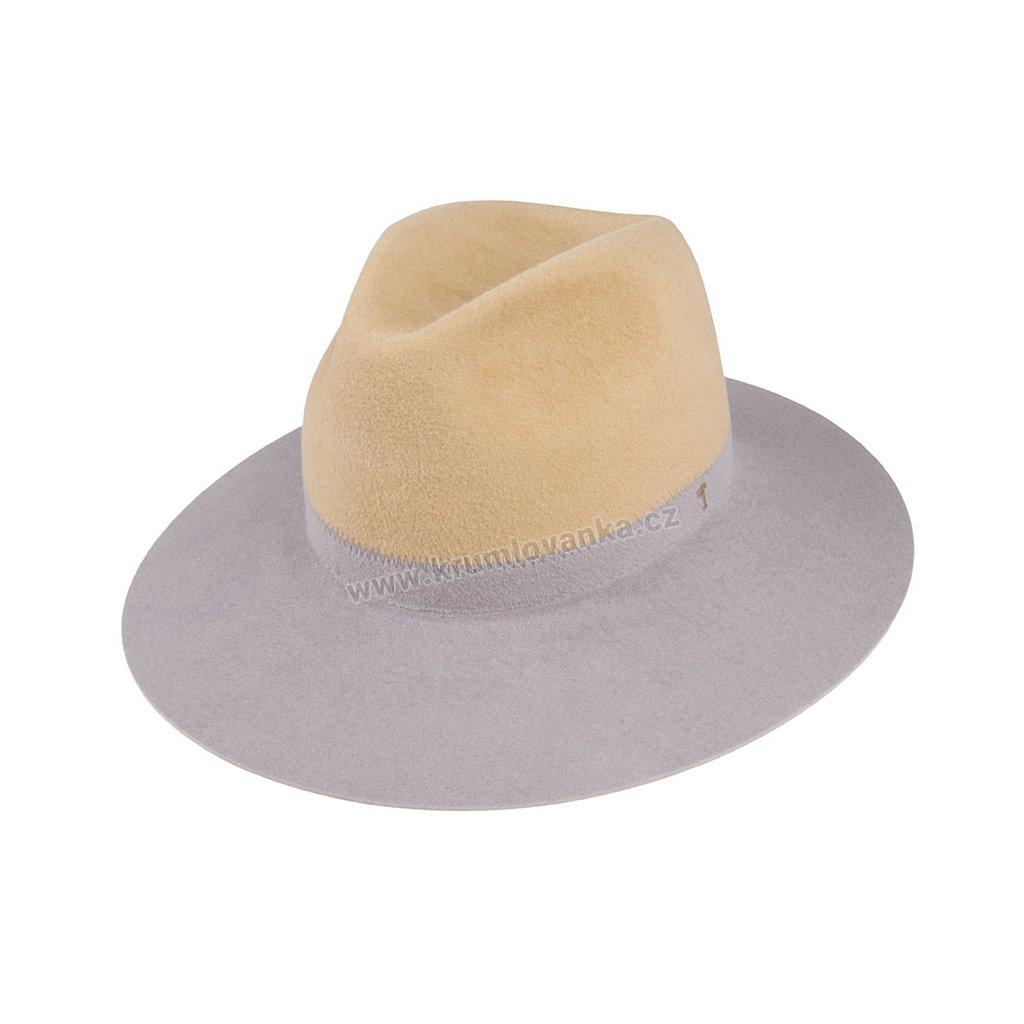 5370820 P0670 1 damsky plsteny klobouk sedy bezovy