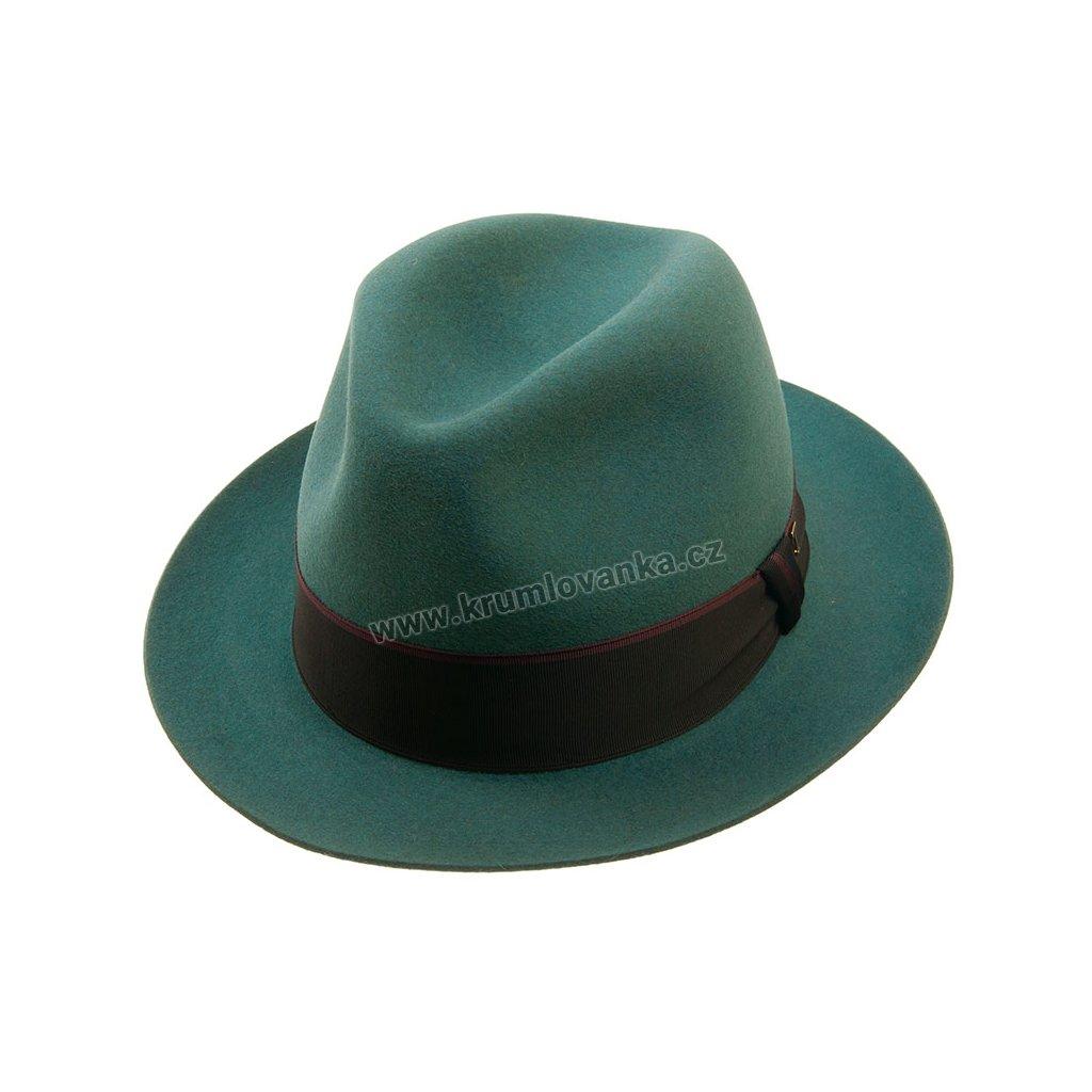 Plstěný klobouk TONAK Fedora Cornfeld 21146/17/Q4042 modrozelený