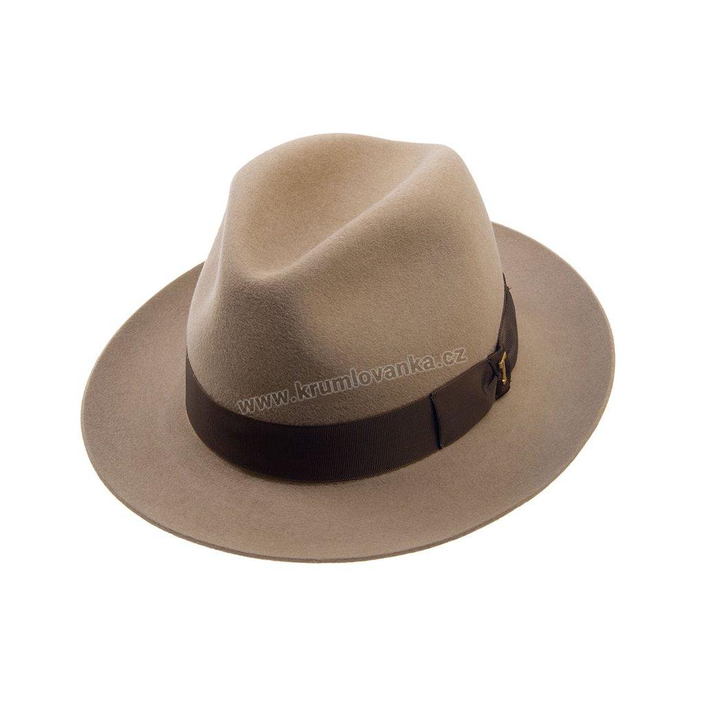 Plstěný klobouk TONAK Fedora Stretti 12515/17/P9470 béžový