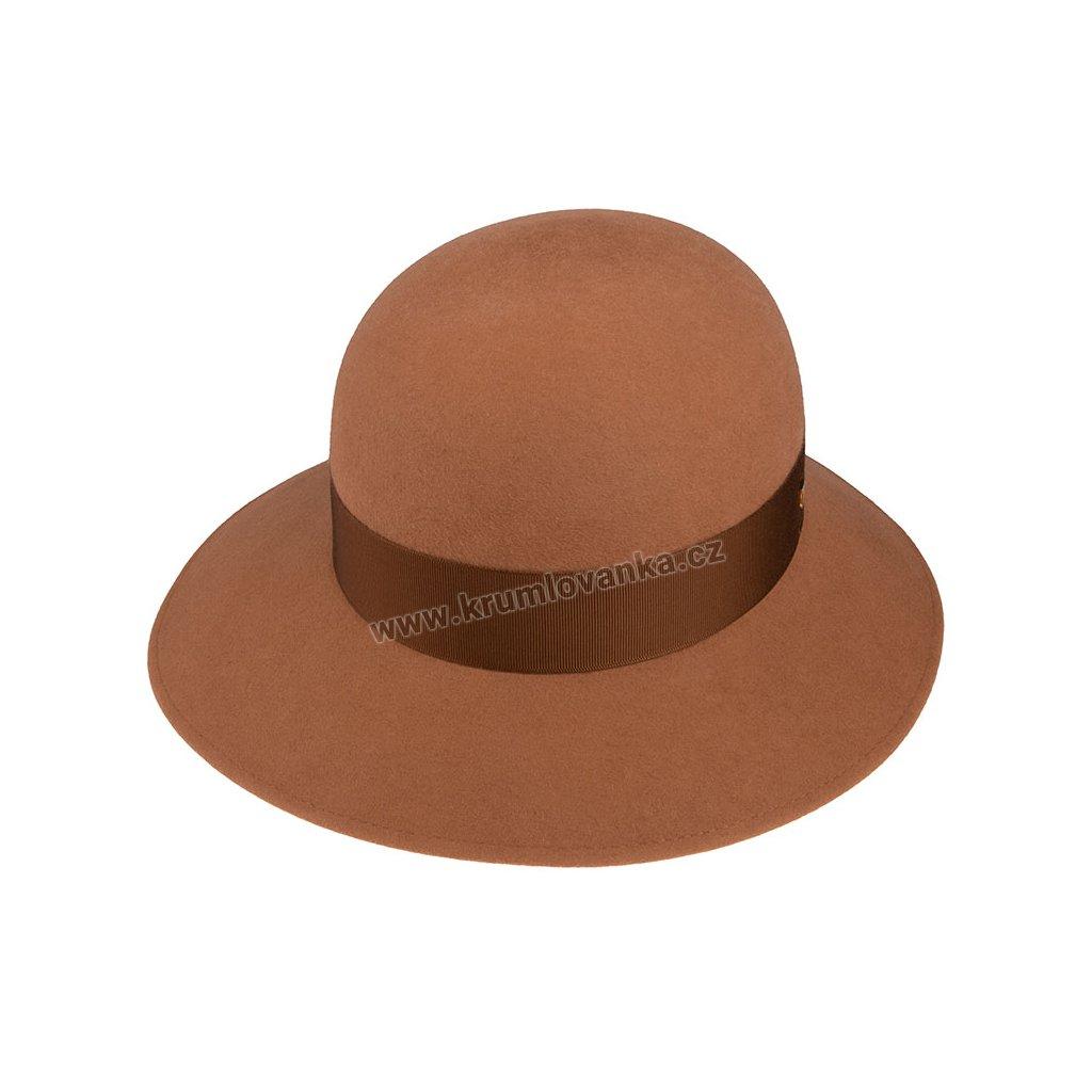 Plstěný klobouk TONAK 53646/19/Q6016 hnědý