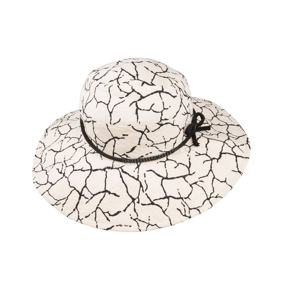Bavlněný klobouk TONAK Brim Hat Vita Osso 022/19 CDREVOTISK režný