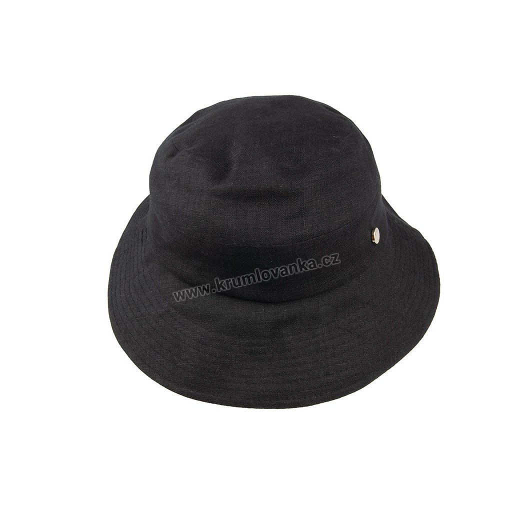 Lněný klobouk TONAK Lady Cap Base Lago 023/19 černý