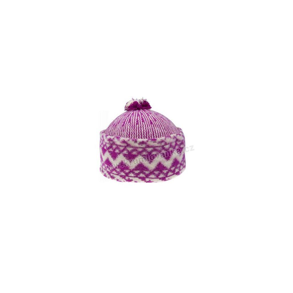 Vlněná čepice TONAK - zmijovka TRITON růžovo-smetanová 011_000011