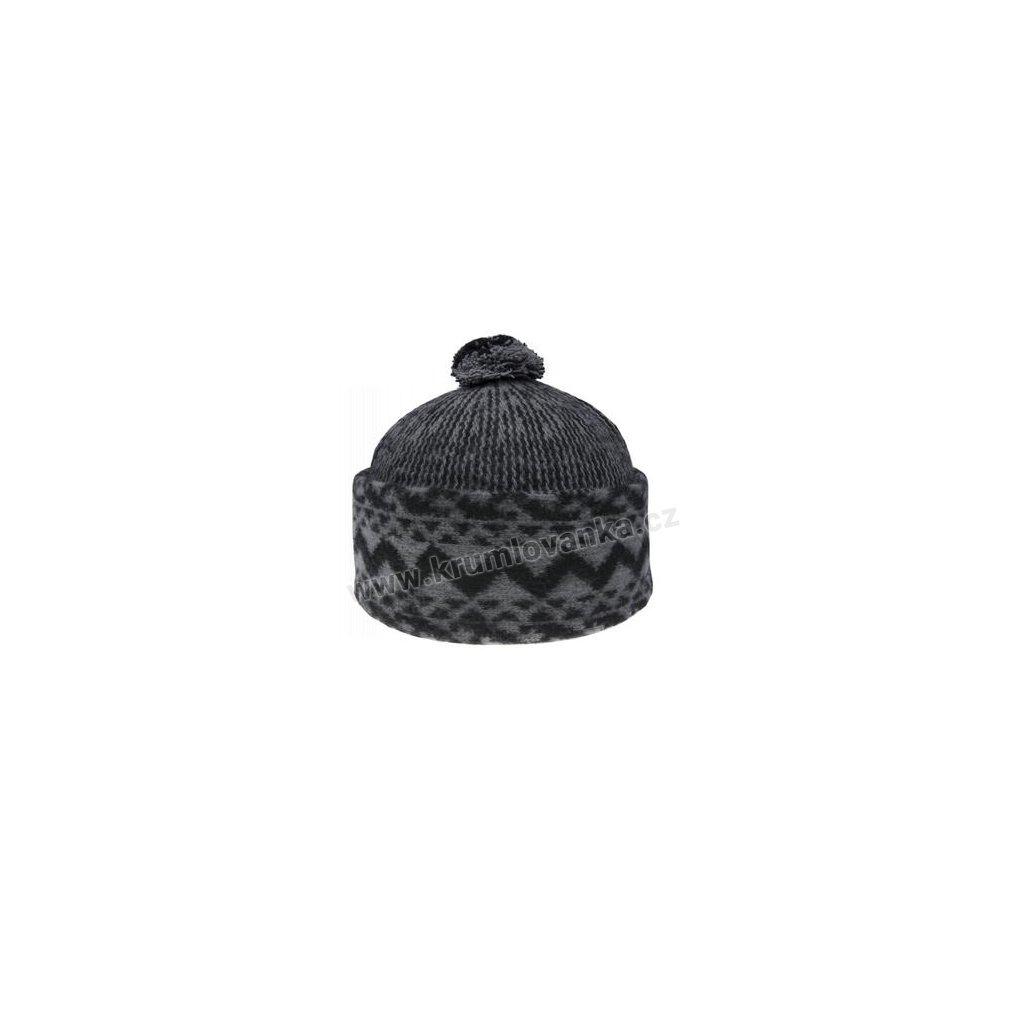 Vlněná čepice TONAK - zmijovka TRITON šedá-černá 011_014005