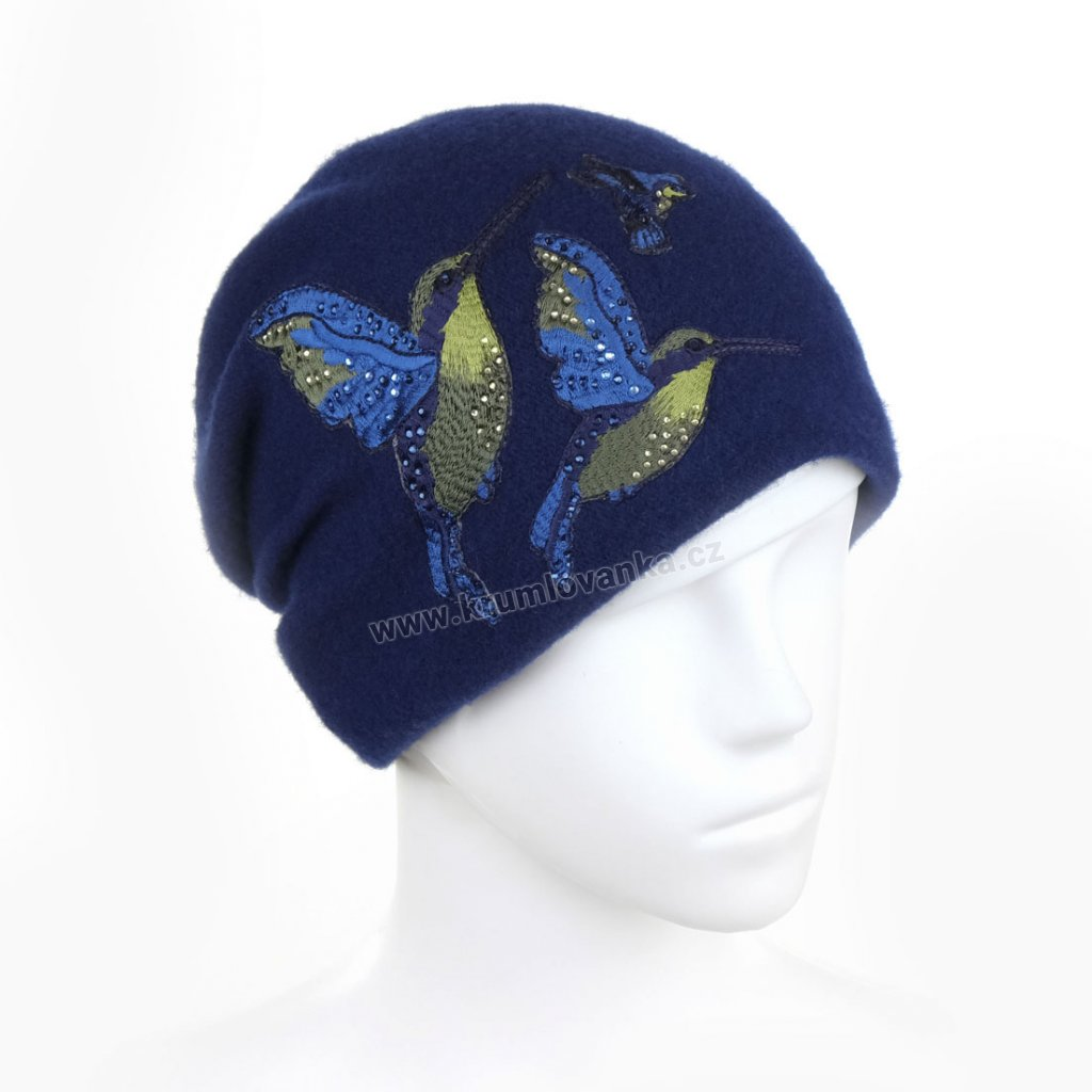 Dámská zimní čepice W-0010/161 modrá