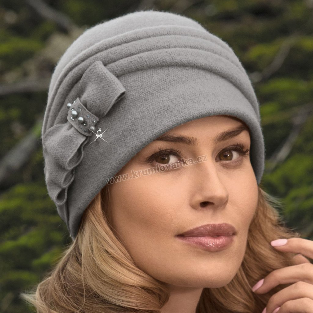 Dámská zimní čepice W-0018/529 šedá