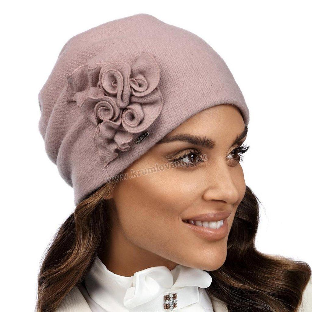 Dámská zimní čepice W-0019/540 růžová
