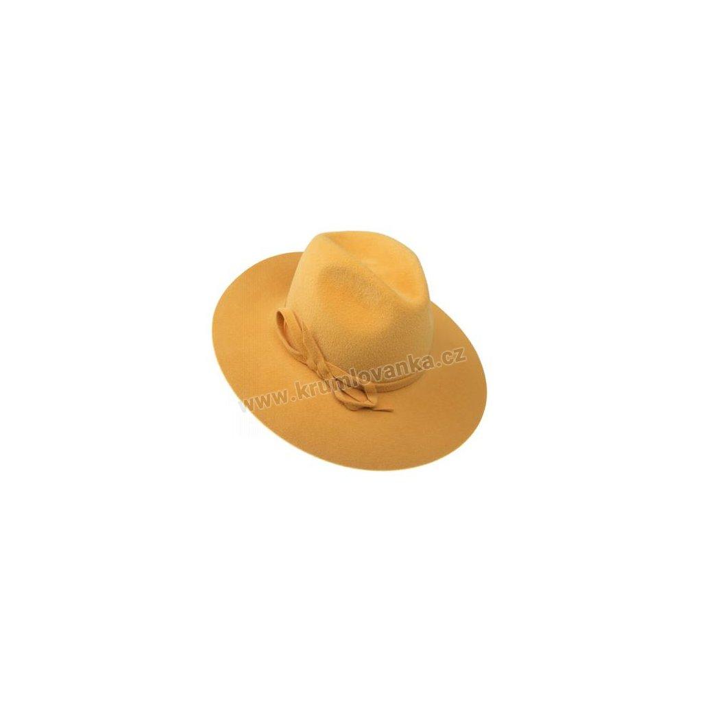 Dámský plstěný klobouk TONAK 52727/14 Q0108 žlutý