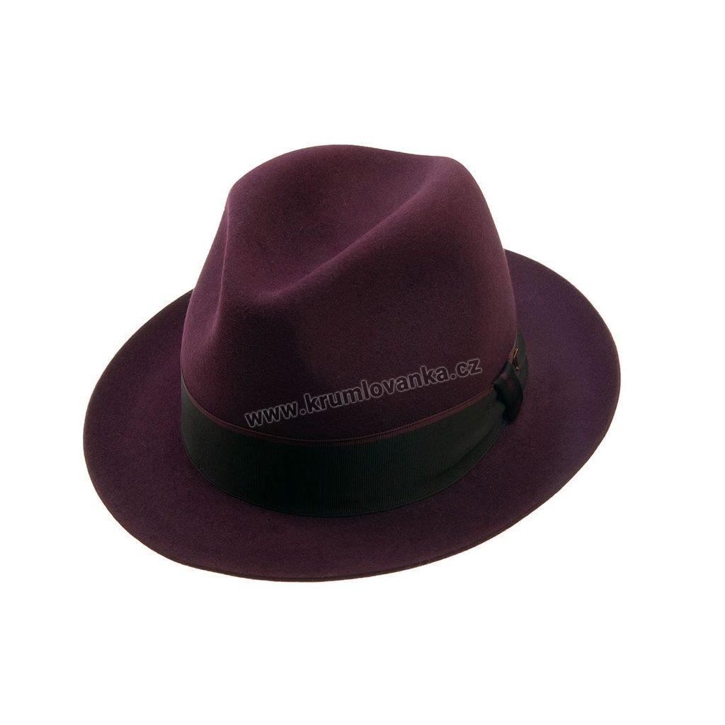 Plstěný klobouk TONAK Fedora Cornfeld 21146/17/Q2047 fialový