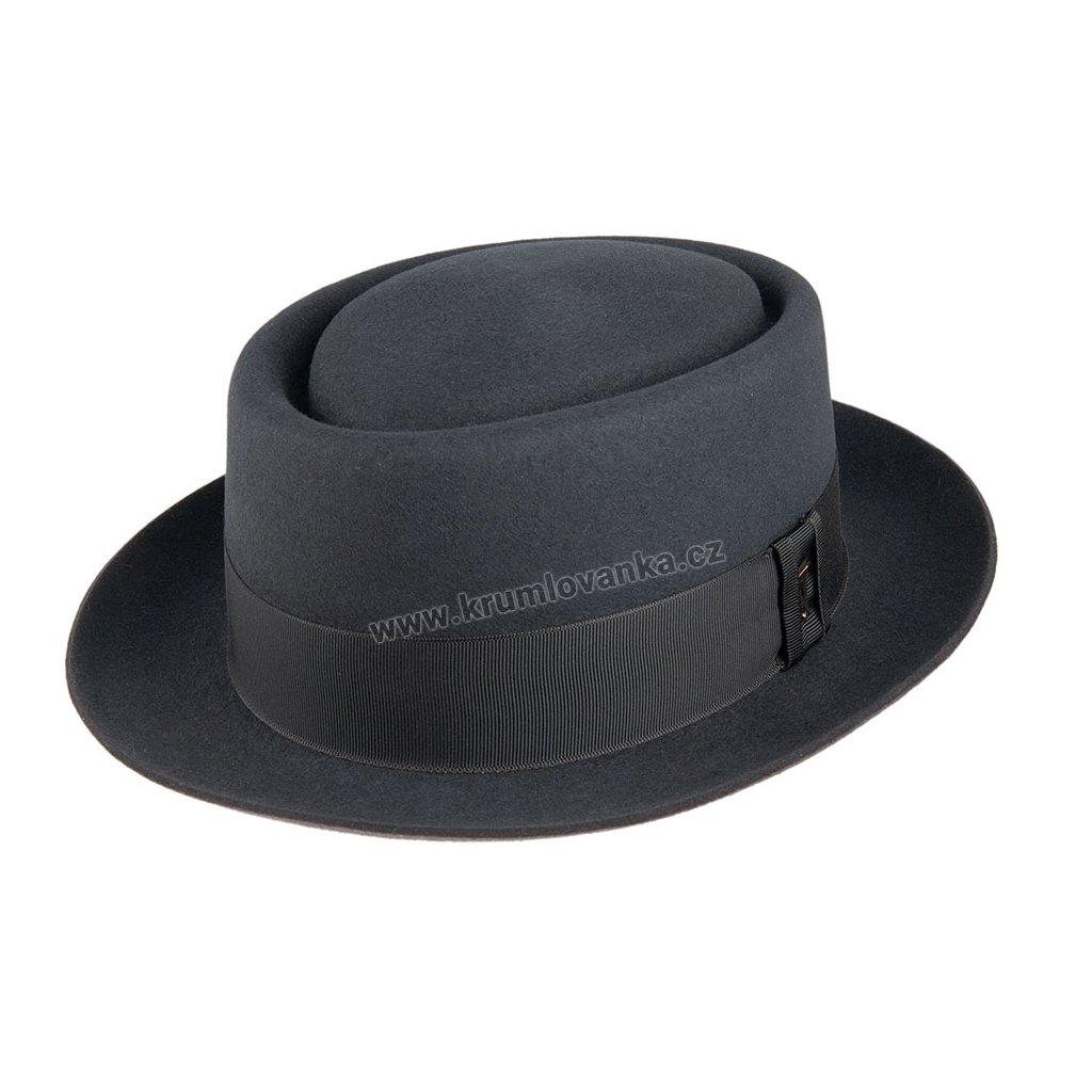 Plstěný klobouk TONAK Porkpie Aznavour 12915/19 tmavě šedý