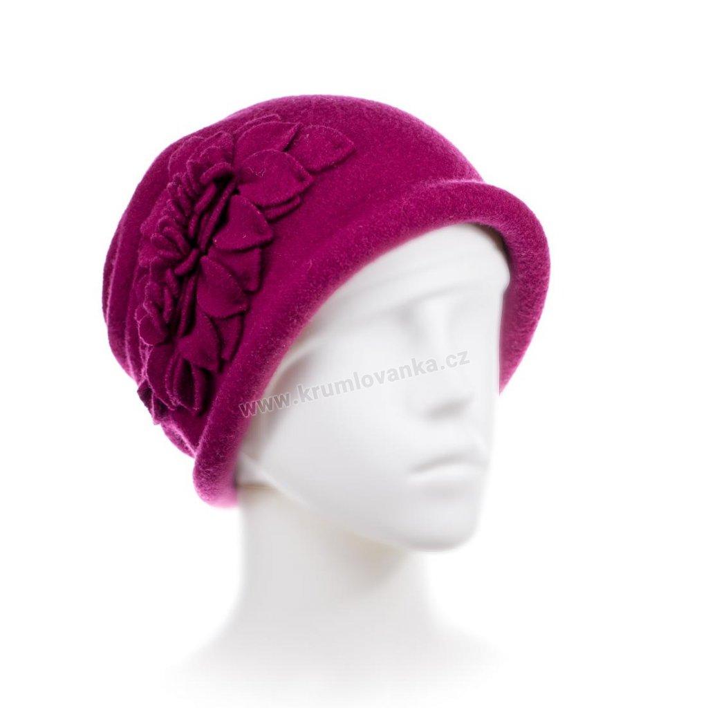 Dámský zimní klobouček W-0055/325 purpurový