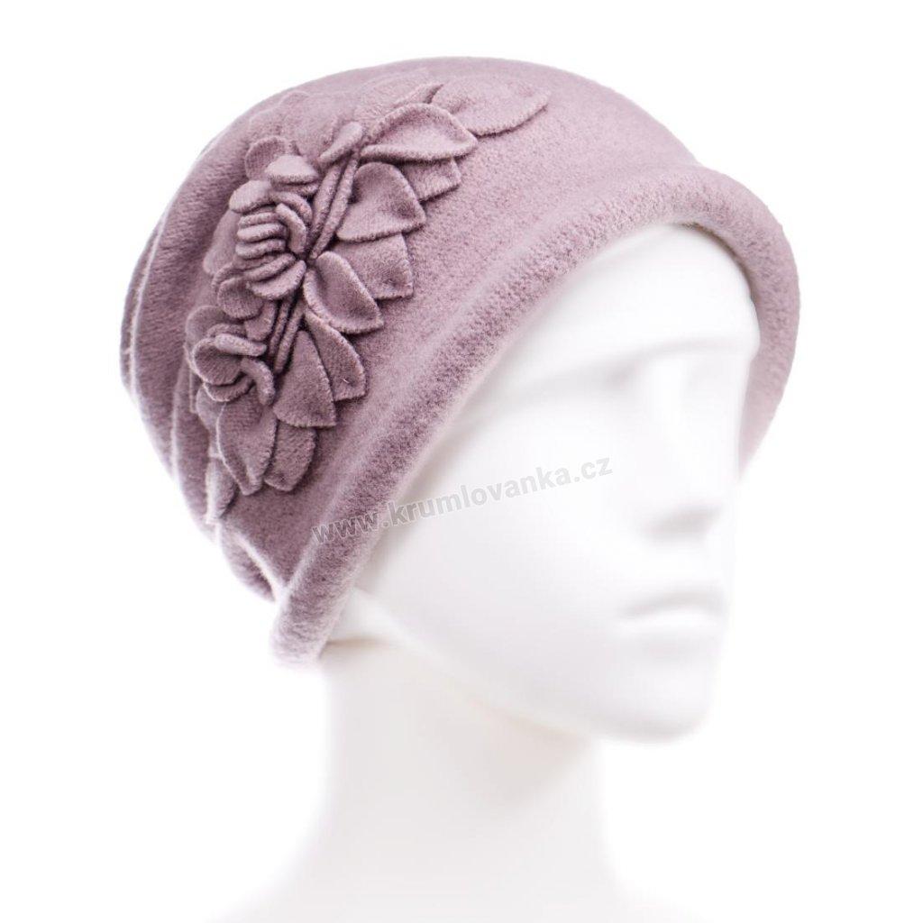 Dámský zimní klobouček W-0055/540 světle strorůžový