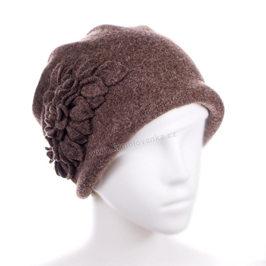 Dámský zimní klobouček W-0055/867 hnědý
