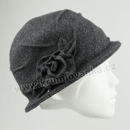 Vlněný dámský klobouk