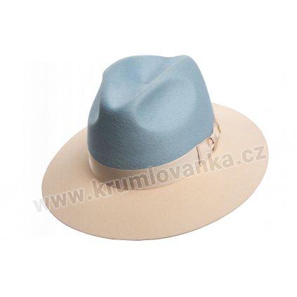 5351918 Q3014 1 plsteny klobouk modry smetanovy