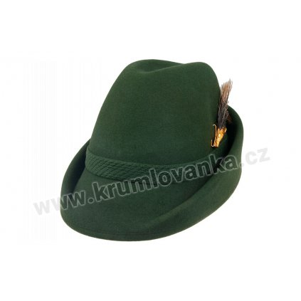 Plstěný myslivecký klobouk TONAK 100112 zelený P 0250