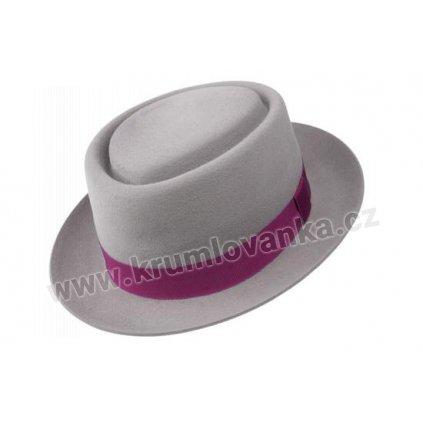 Plstěný klobouk TONAK Porkpie Hirzo 41113/16 šedý Q 8011