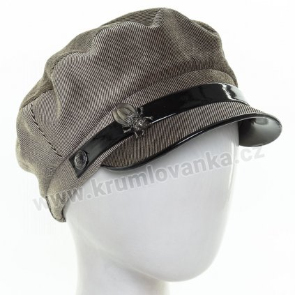 Dámská velurová čepice s kšiltem Krumlovanka 434044 béžová