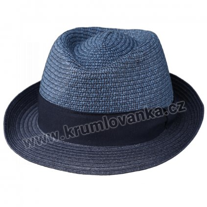 Letní klobouk Tribly s textilní páskou modrý