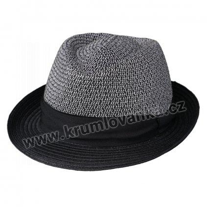 Letní klobouk Tribly s textilní páskou černý