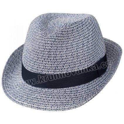 Letní klobouk Trilby 16632 modrý